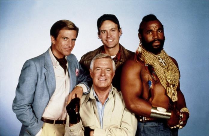 I personaggi principali della serie A-Team