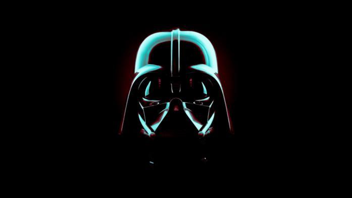 Un primo piano di Darth Vader