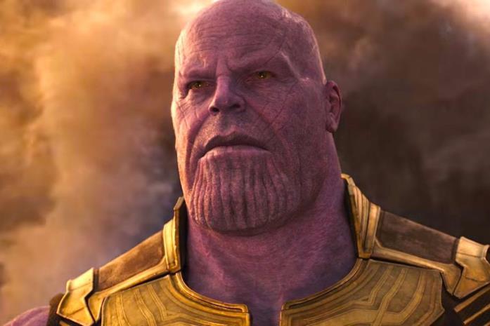 Thanos in un primo piano di Avengers: Infinity War
