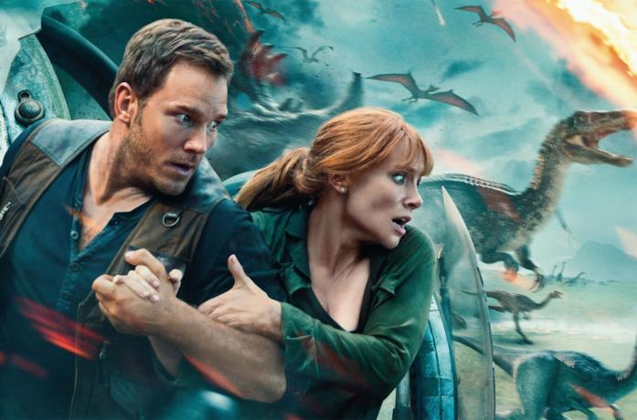 Una scena dal film Jurassic World: Il regno distrutto