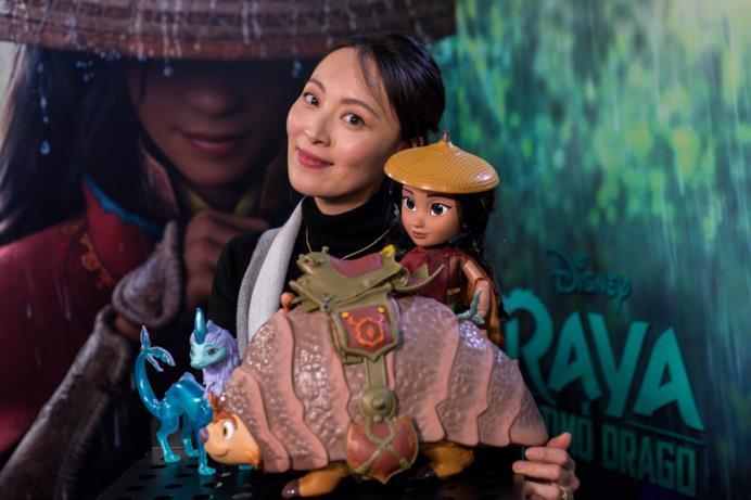Jun Ichikawa al photocall per Raya e l'Ultimo Drago