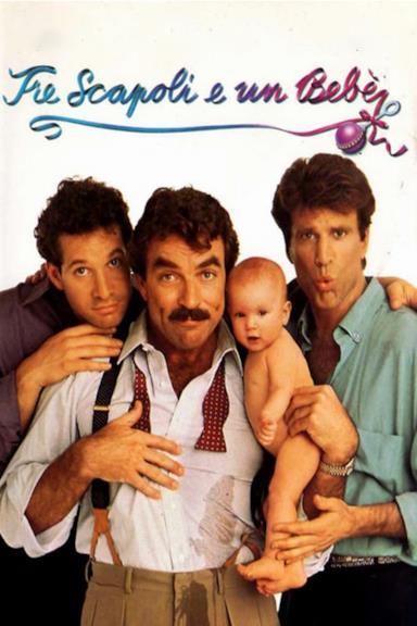 Poster Tre scapoli e un bebè