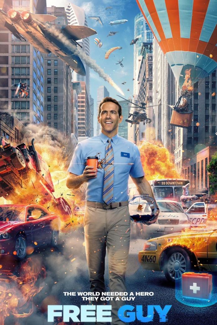 Ryan Reynolds nel poster di Free Guy