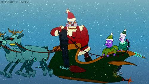 GIF di Babbo Natale in Futurama