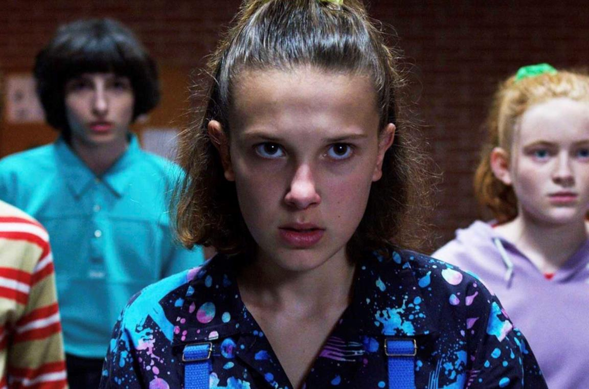 Un'immagine di Millie Bobby Brown in Stranger Things