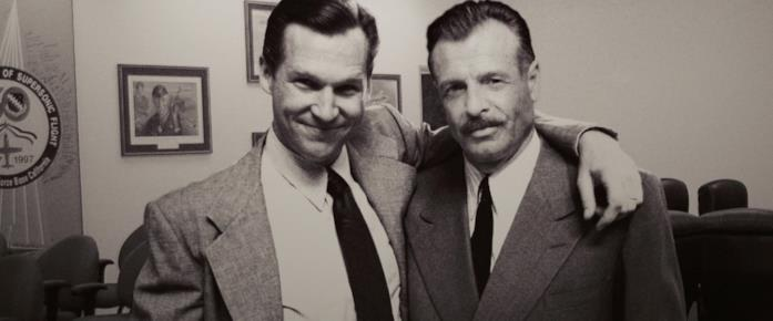 Gerald Sanders nelle foto di Howard Stark mostrate in Iron Man