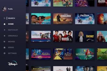 La schermata tablet di Disney+