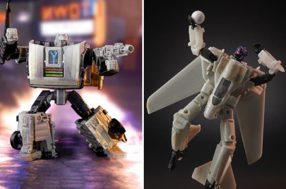 I due giocattoli Transformers di Ritorno al Futuro e Top Gun