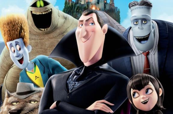I protagonisti della fortunata saga d'animazione Hotel Transylvania