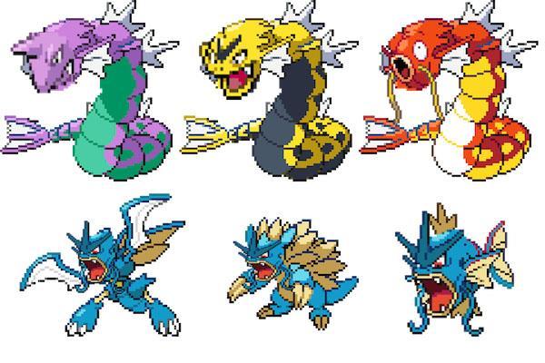 Alcuni Pokémon mostruosi realizzati con Pokémon Fusion