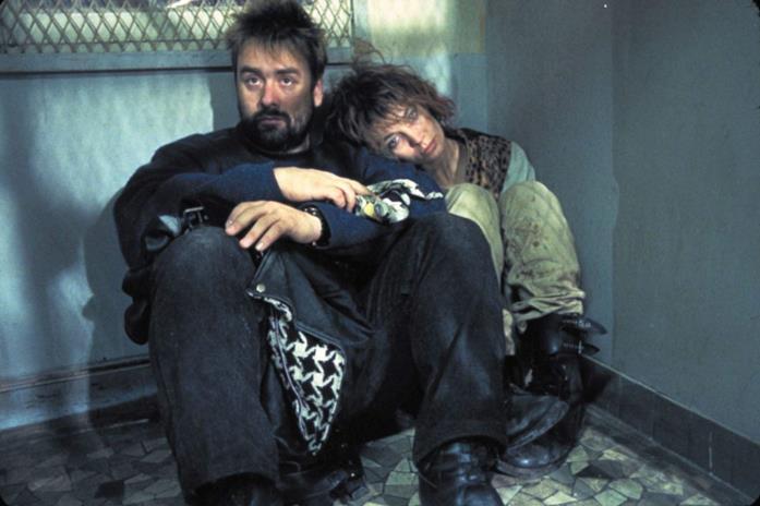 Luc Besson e Anne Parillaud sul set di Nikita