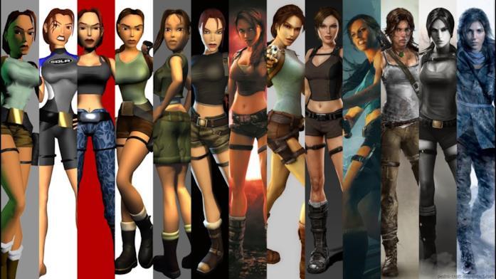 Lara Croft in 25 anni di storia