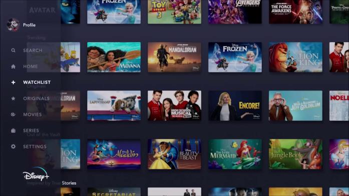 La navigazione da Smart TV di Disney+