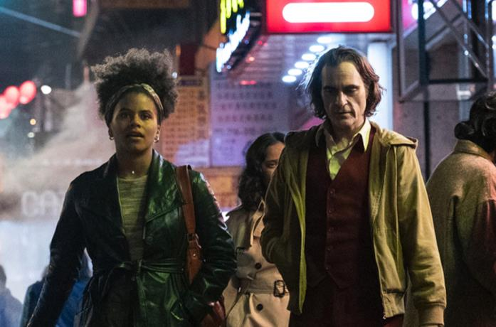 Joaquin Phoenix e Zazie Beetz in Joker