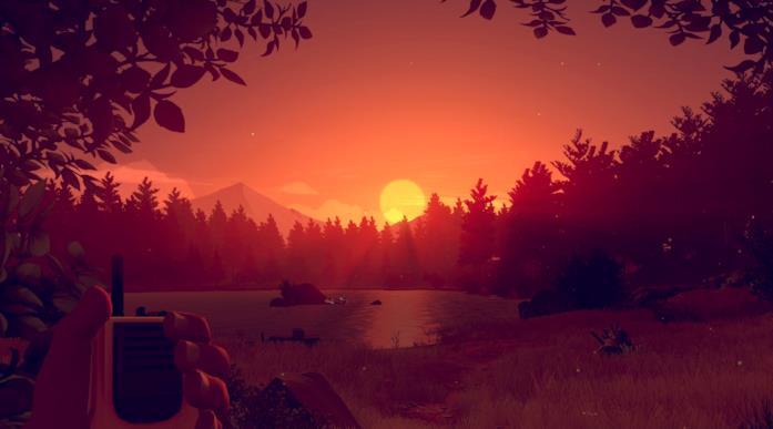 Uno screenshot di gioco da Firewatch