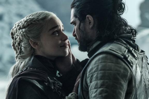 Daenerys e Jon nel finale di Game of Thrones 8
