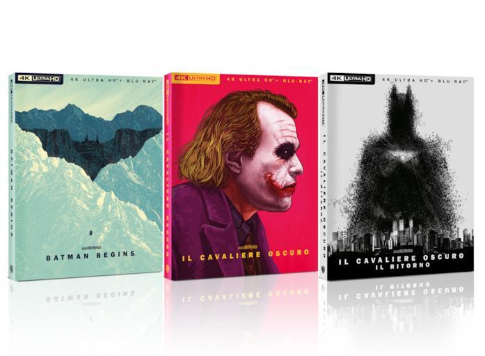 Le copertine della limited edition della saga de Il Cavaliere Oscuro