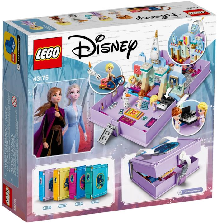 Il retro della scatola del LEGO set Frozen 2 Il libro delle fiabe di Elsa e Anna