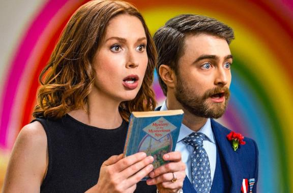 Ellie Kemper e Daniel Radcliffe in Unbreakable Kimmy Schmidt: Kimmy vs. the Reverend