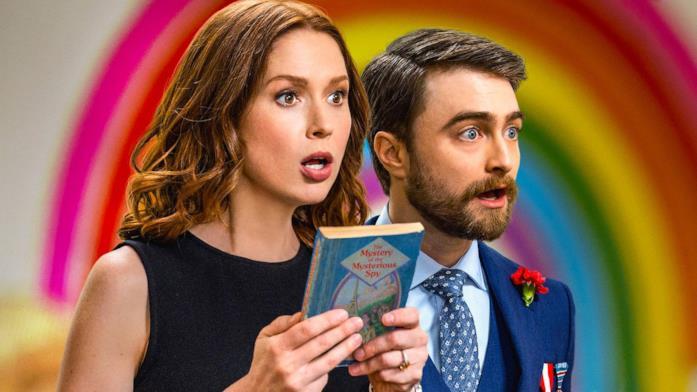 Ellie Kemper e Daniel Radcliffe in Unbreakable Kimmy Schmidt: Kimmy vs. the Reverend