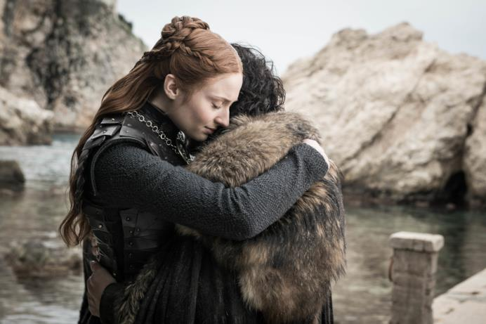 Sansa e Jon nell'episodio di GoT 8x06, The Iron Throne