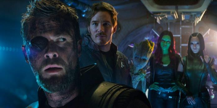 Chris Hemsworth e il cast di Guardiani della Galassia Vol. 2