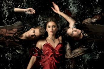 Paul Weasley, Nina Dobrev, Ian Somerhalder in una foto di The Vampire Diaries
