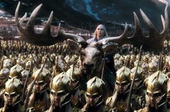 Scena del film Lo Hobbit - La battaglia delle cinque armate