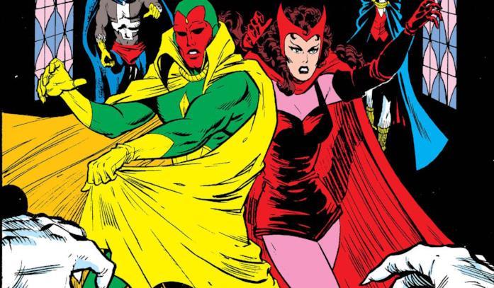 Dettaglio della cover di Vision and the Scarlet Witch #1