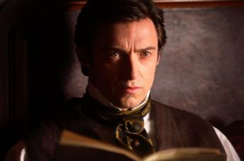 Primo piano di Hugh Jackman in The Prestige