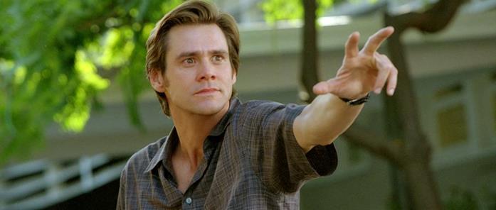 Jim Carrey in una scena da Una settimana da Dio