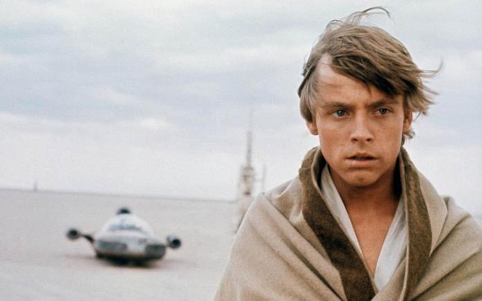 Mark Hamill è Luke Skywalker in Guerre Stellari (1977)