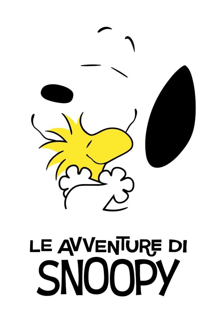 Snoopy e Woodstock si abbracciano sulla locandina del nuovo show di Snoopy