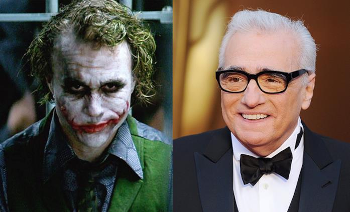 Joker (Heath Ledger) e il regista Martin Scorsese