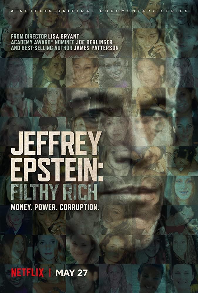 Il poster della docu-serie Jeffrey Epstein: soldi, potere e perversione