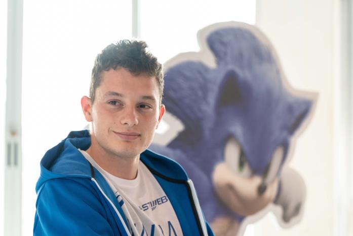 Il campione italiano Tortu sfida Sonic