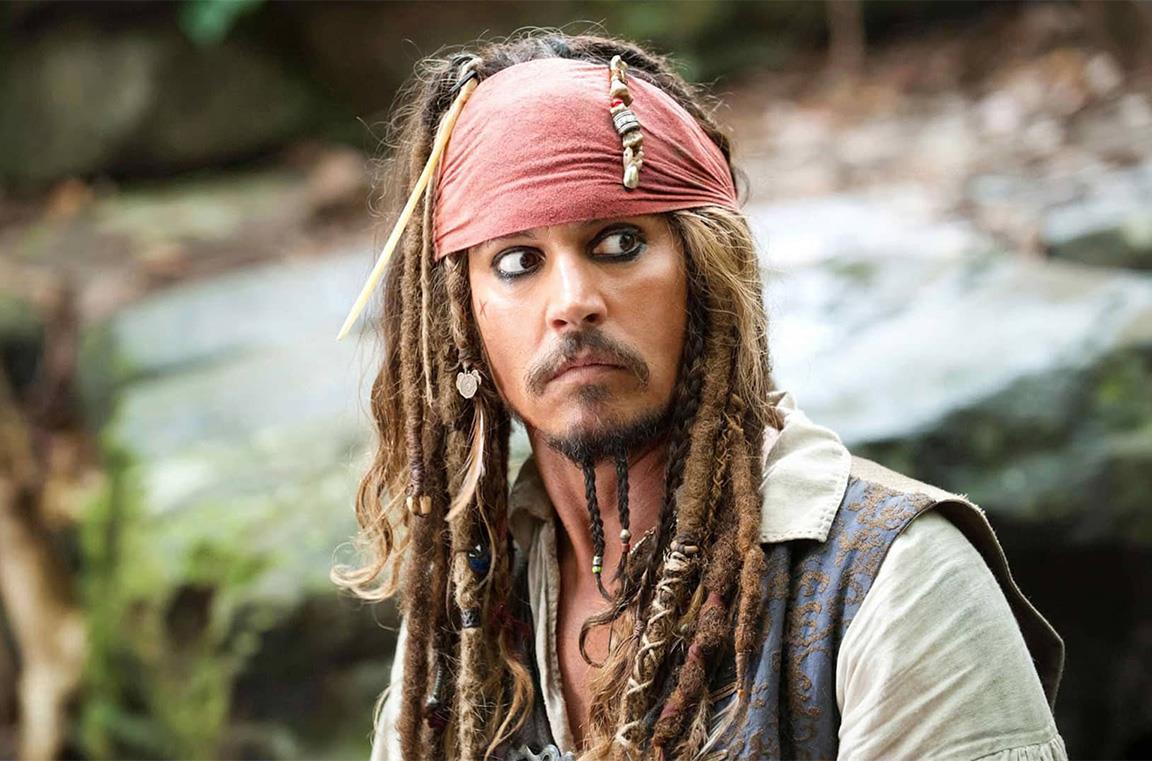 Johnny Depp nel ruolo di Jack Sparrow