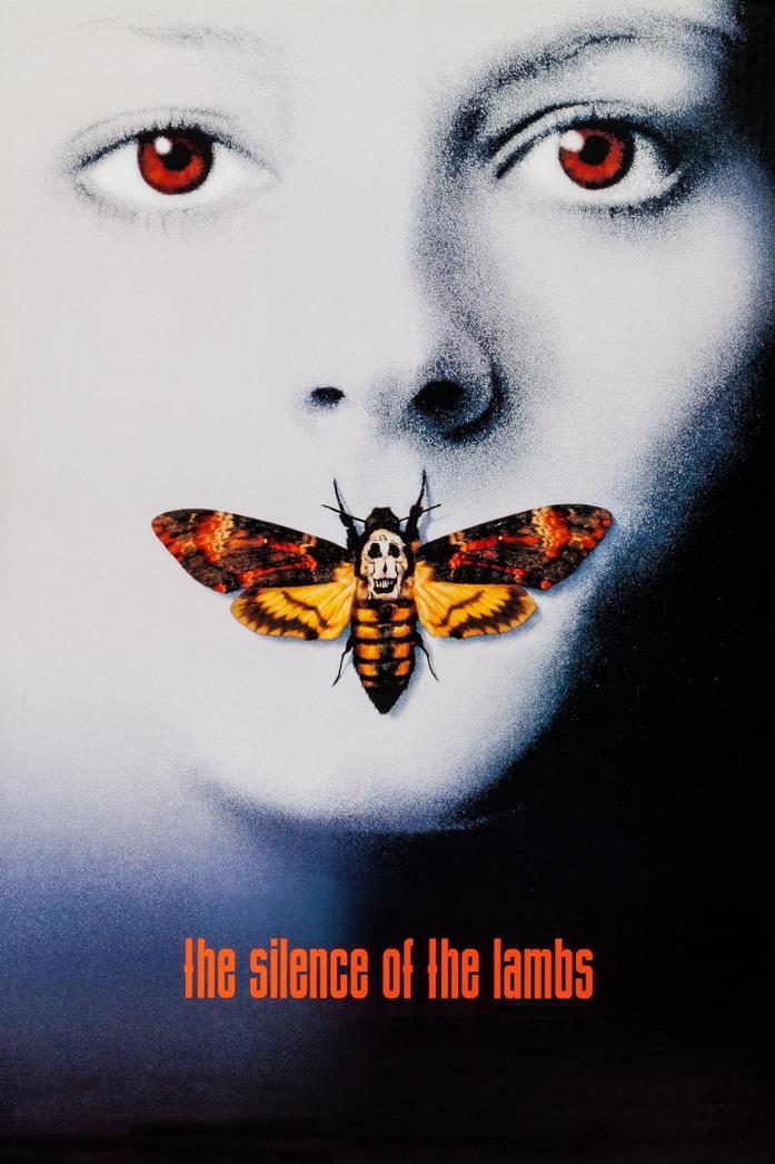Primo piano di Jodie Foster nel poster de Il Silenzio degli Innocenti