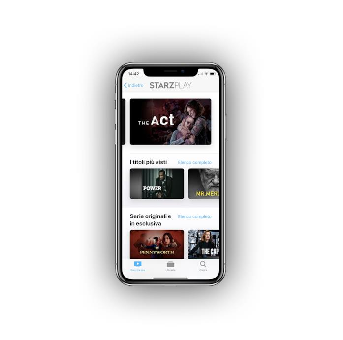 La Home di STARZPLAY su Apple TV