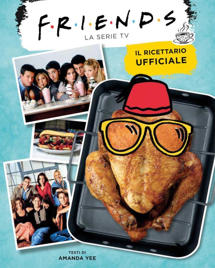 Un pollo al forno e le fotografie dei personaggi di Friends