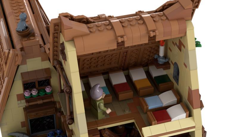 I letti sei sette nani LEGO