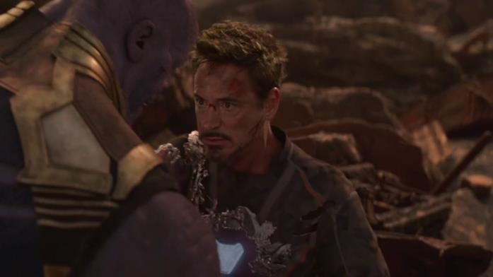 Robert Downey Jr. nel finale di Infinity War