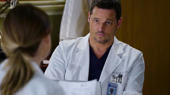 Alex Karev in una scena di Grey's Anatomy