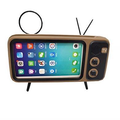 Ayanx Mini Altoparlante Senza Fili di Bluetooth, Supporto Perfetto per Il Telefono, con Stile retrò degli Anni 80-Argento, Gray, Arancio,Brown