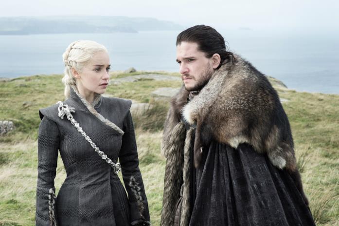 Jon Snow e Daenerys Targaryen di Game of Thrones