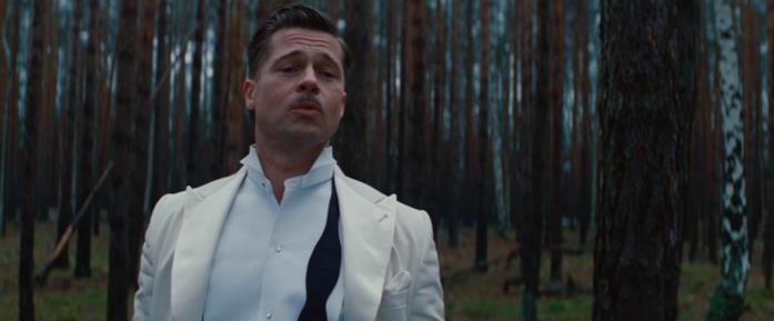 Brad Pitt nella scena finale di Bastardi senza gloria