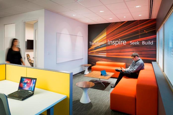 Interni degli uffici di Microsoft a Hartford