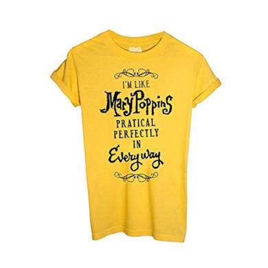 iMage T-Shirt Come Mary Poppins - Perfetta sotto Ogni Aspetto - Mush - Donna-M-Gialla