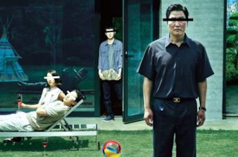 La famiglia Kim in un'immagine promozionale del film Parasite