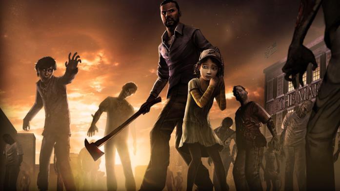 Clementine e Lee in Telltale's The Walking Dead